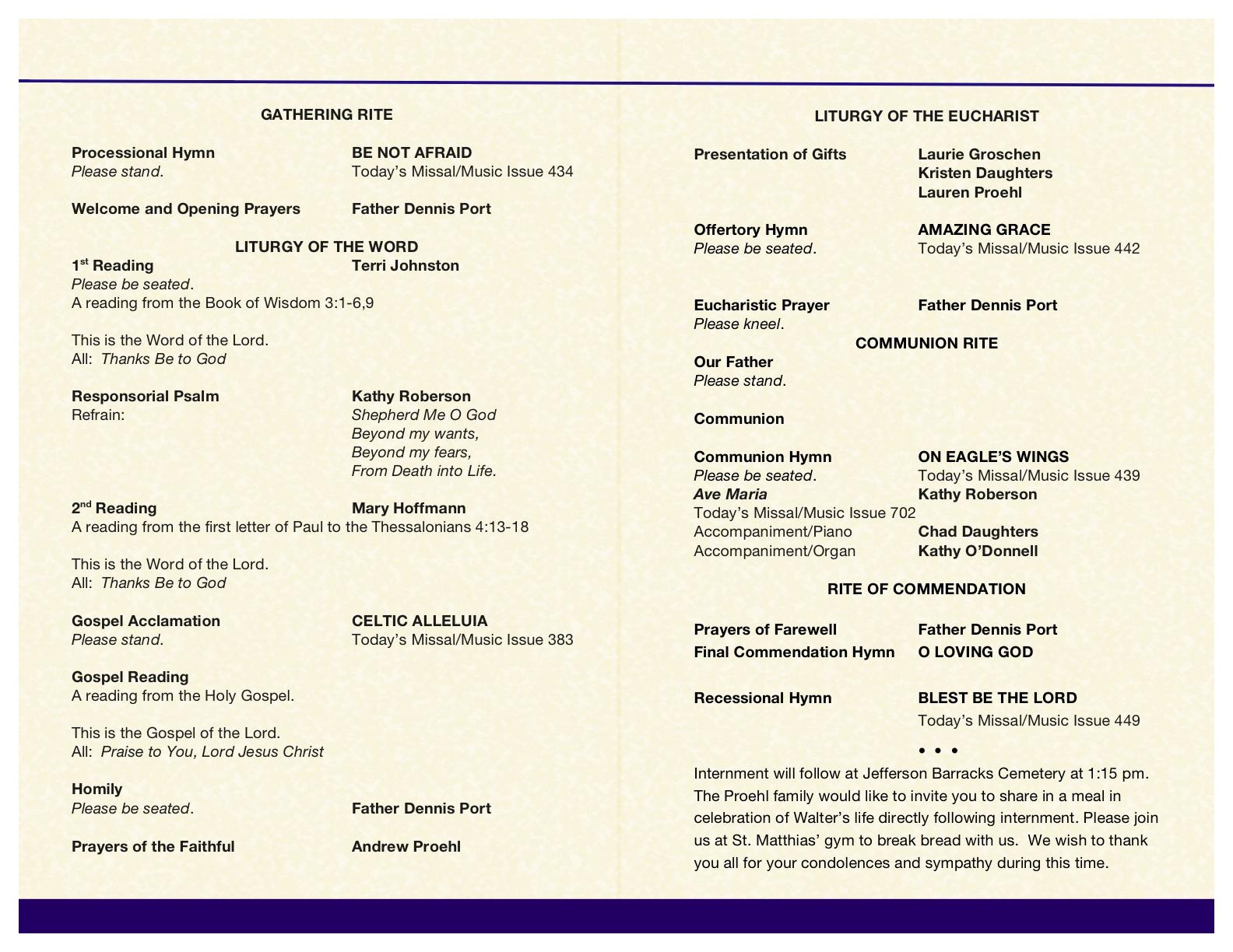 001 Catholic Funeral Program Template Ideas ~ Ulyssesroom - Free Printable Catholic Mass Book