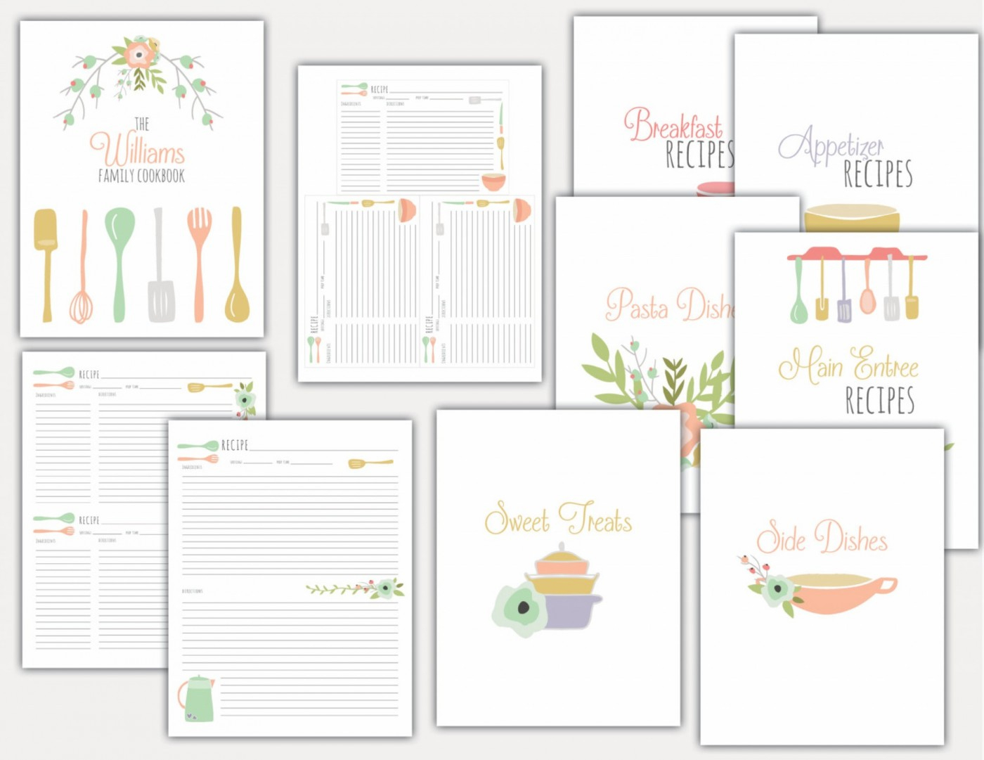 001 Free Printable Recipe Templates Template ~ Ulyssesroom - Free Printable Recipe Binder Templates