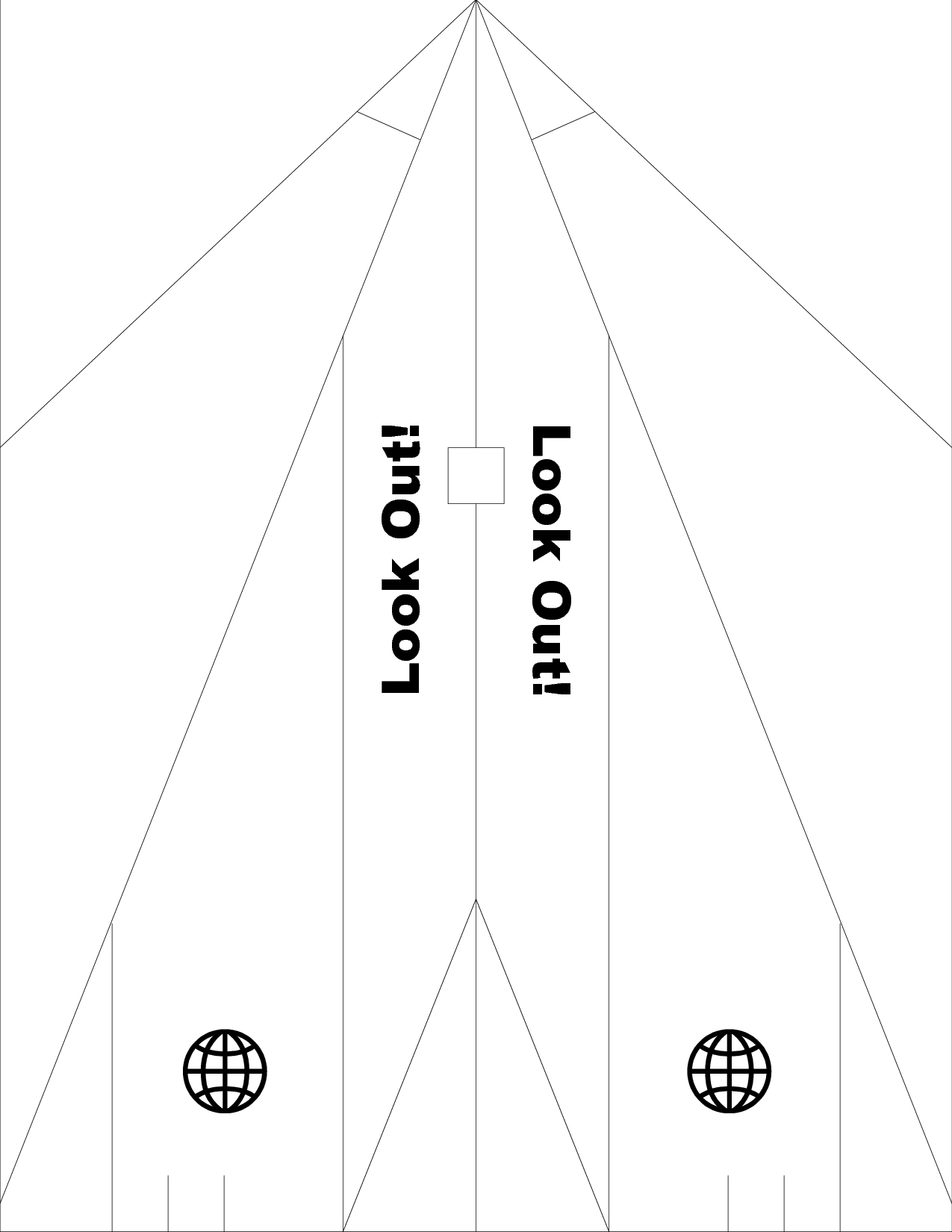 001 Printable Paper Airplane Template Ideas ~ Ulyssesroom - Free Printable Airplane Template