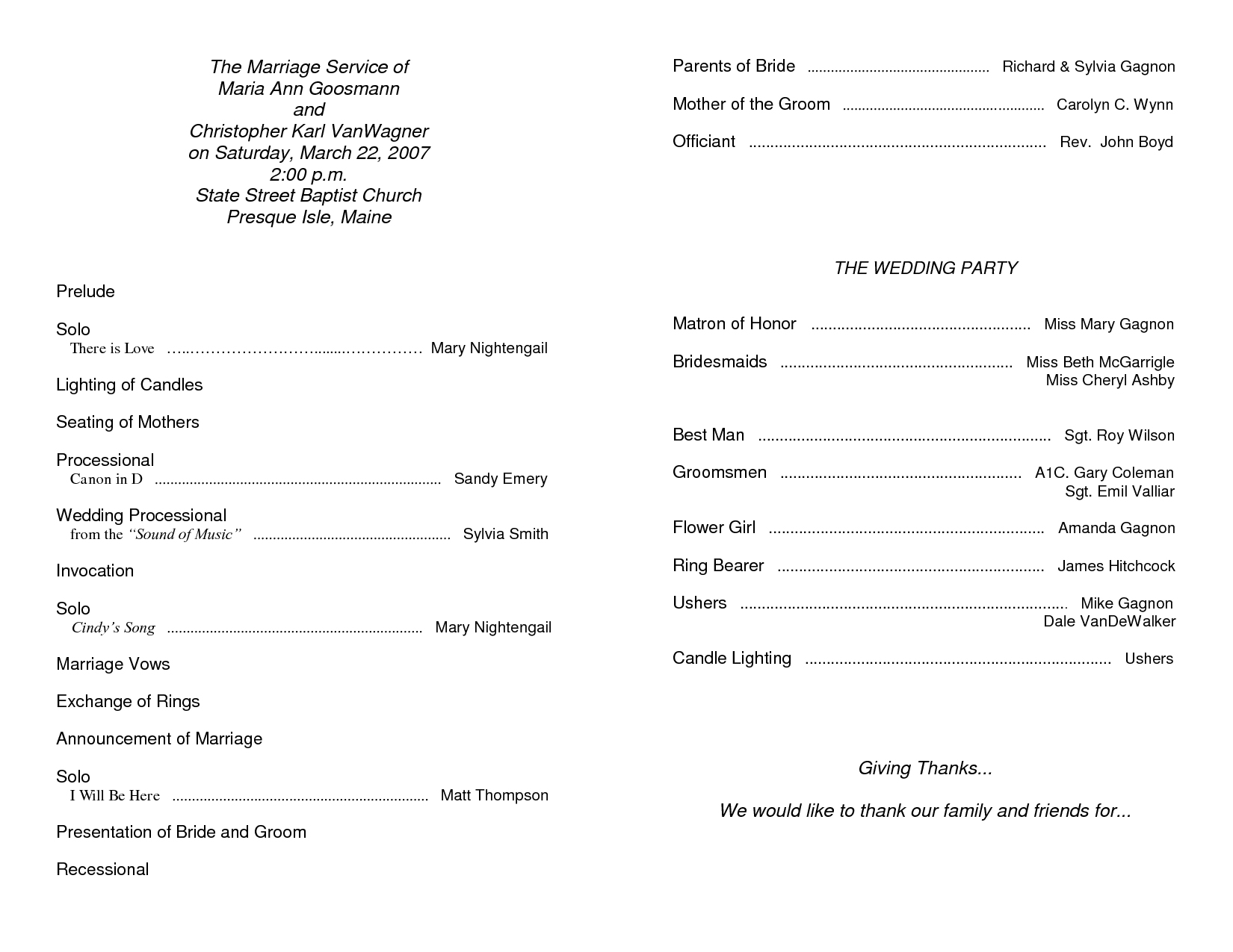 002 Church Wedding Program Template Pic Photo Ceremony Kepbrf - Free Printable Catholic Mass Book