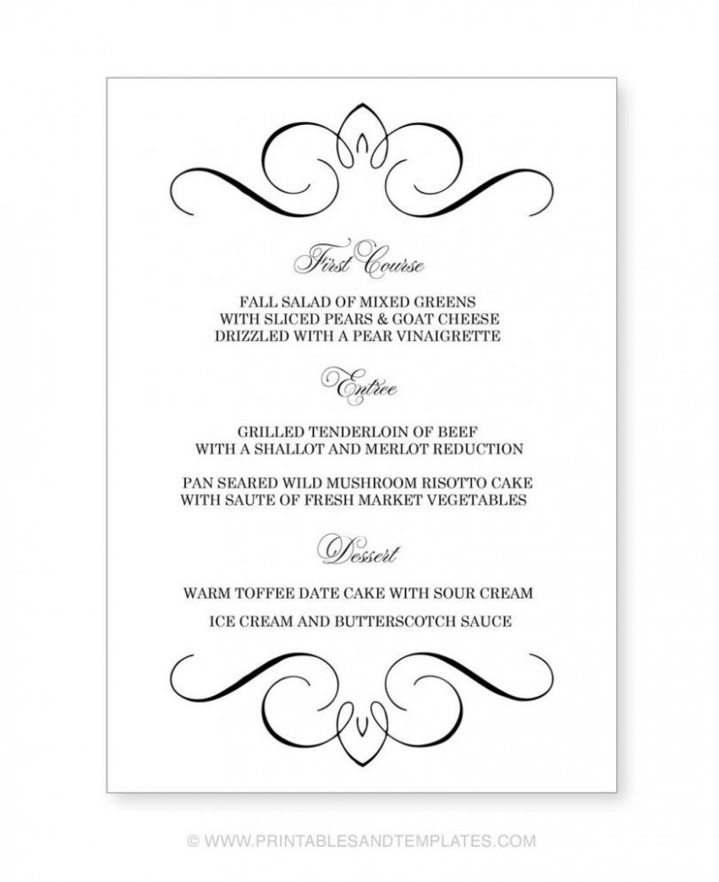 002 Template Ideas Menu Free Printable Editable Templates ~ Ulyssesroom - Free Printable Menu Templates