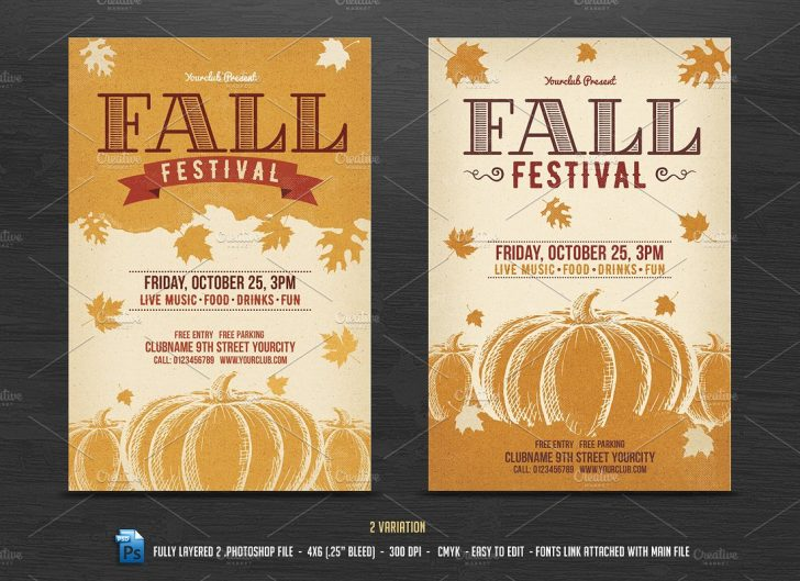 Free Printable Fall Flyer Templates