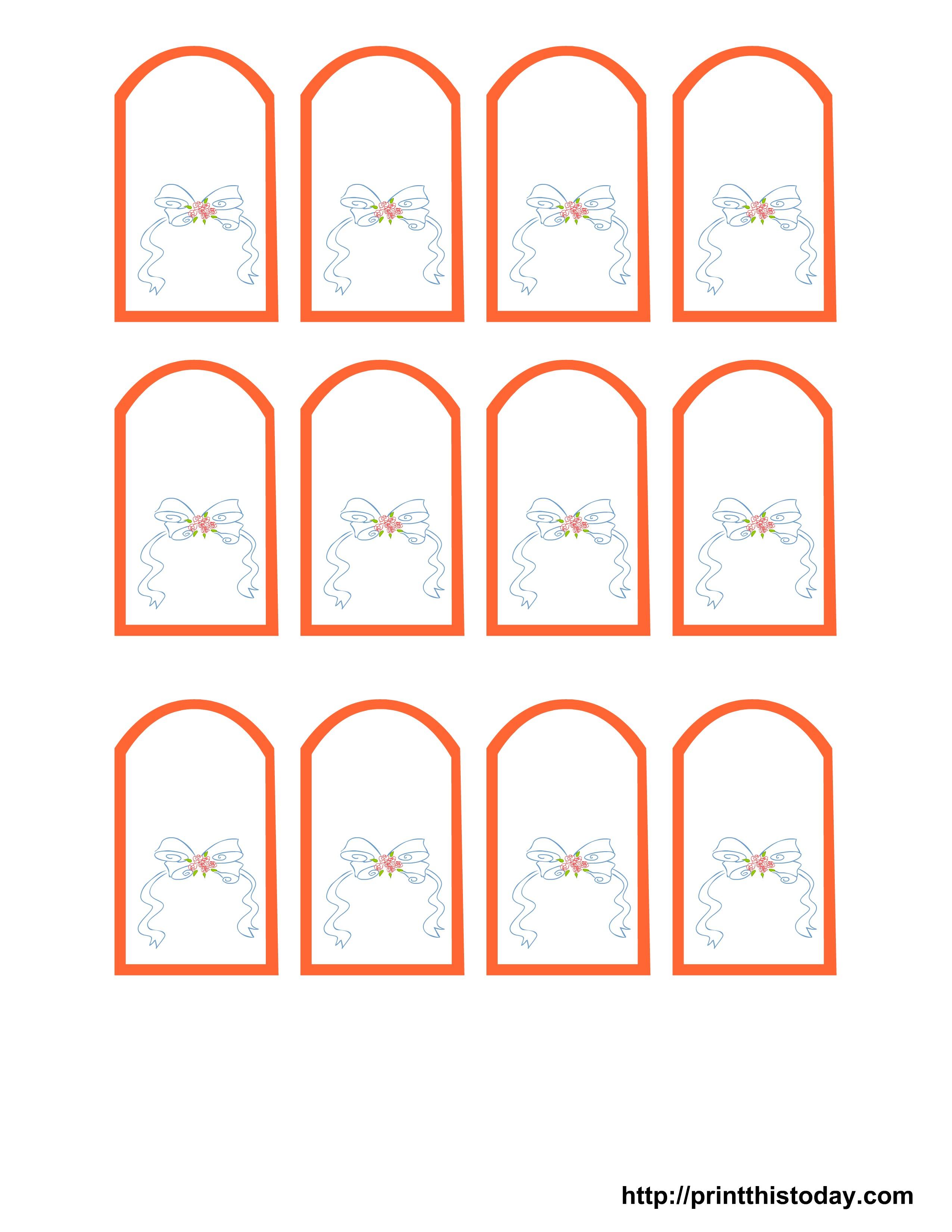 002 Wedding Favor Tag Templates Free Printable Tags Template - Free Printable Wedding Favor Tags