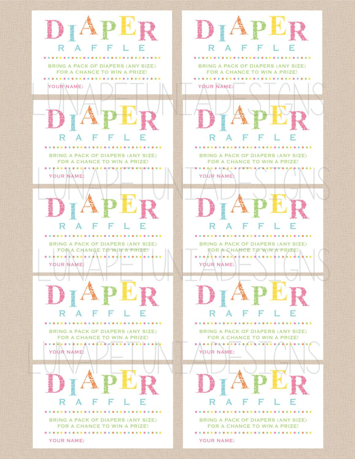 003 Diaper Raffle Tickets Template ~ Ulyssesroom - Free Printable Diaper Raffle Ticket Template