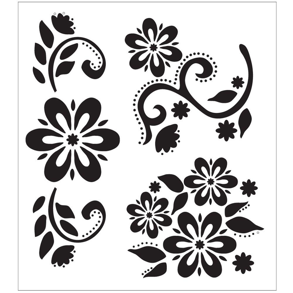 004 Stencil Templates For Painting Folkart Stencils 64 1000 Template - Free Printable Flower Stencils
