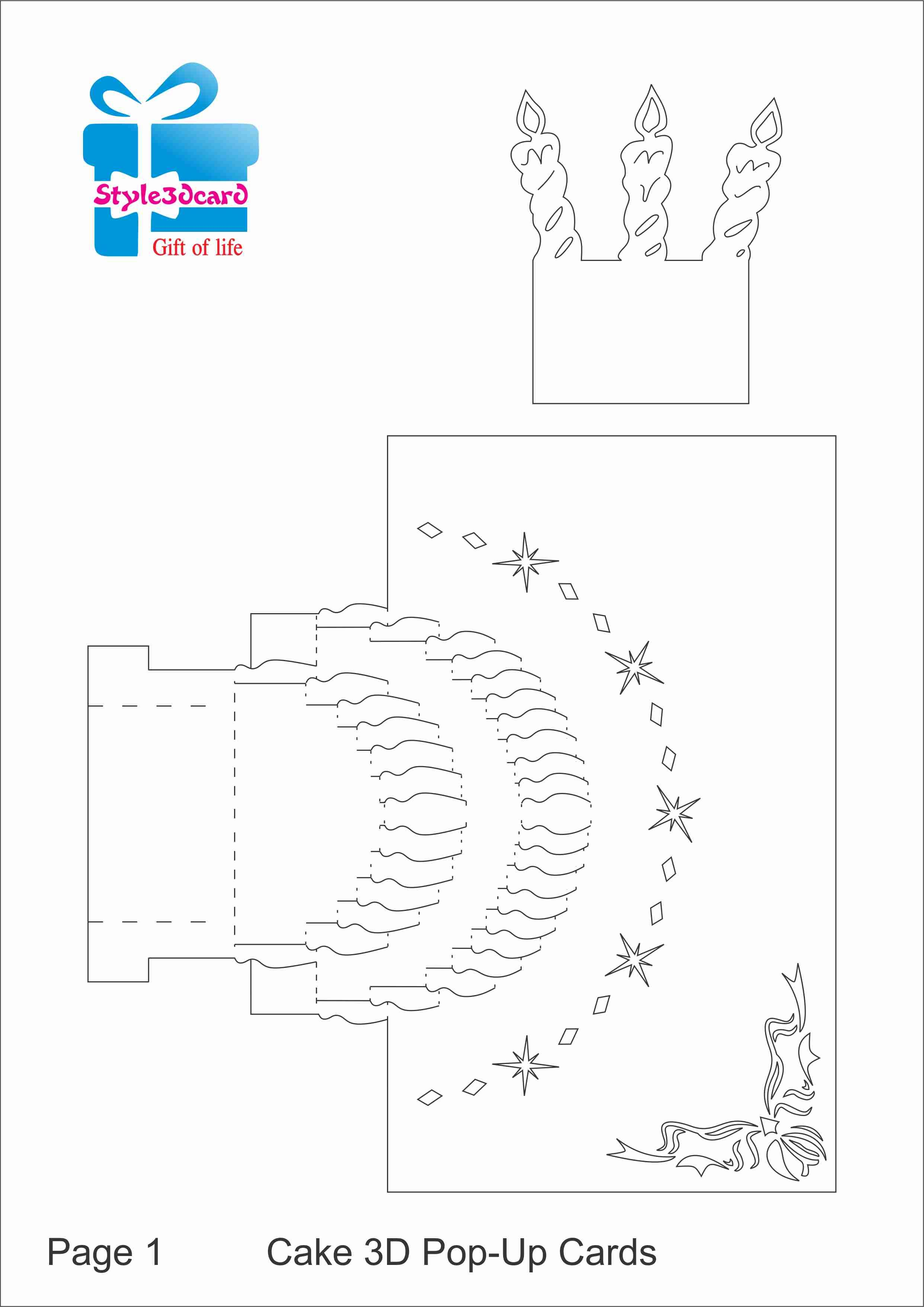 004 Template Ideas Pop Up Birthday ~ Ulyssesroom - Free Printable Pop Up Birthday Card Templates