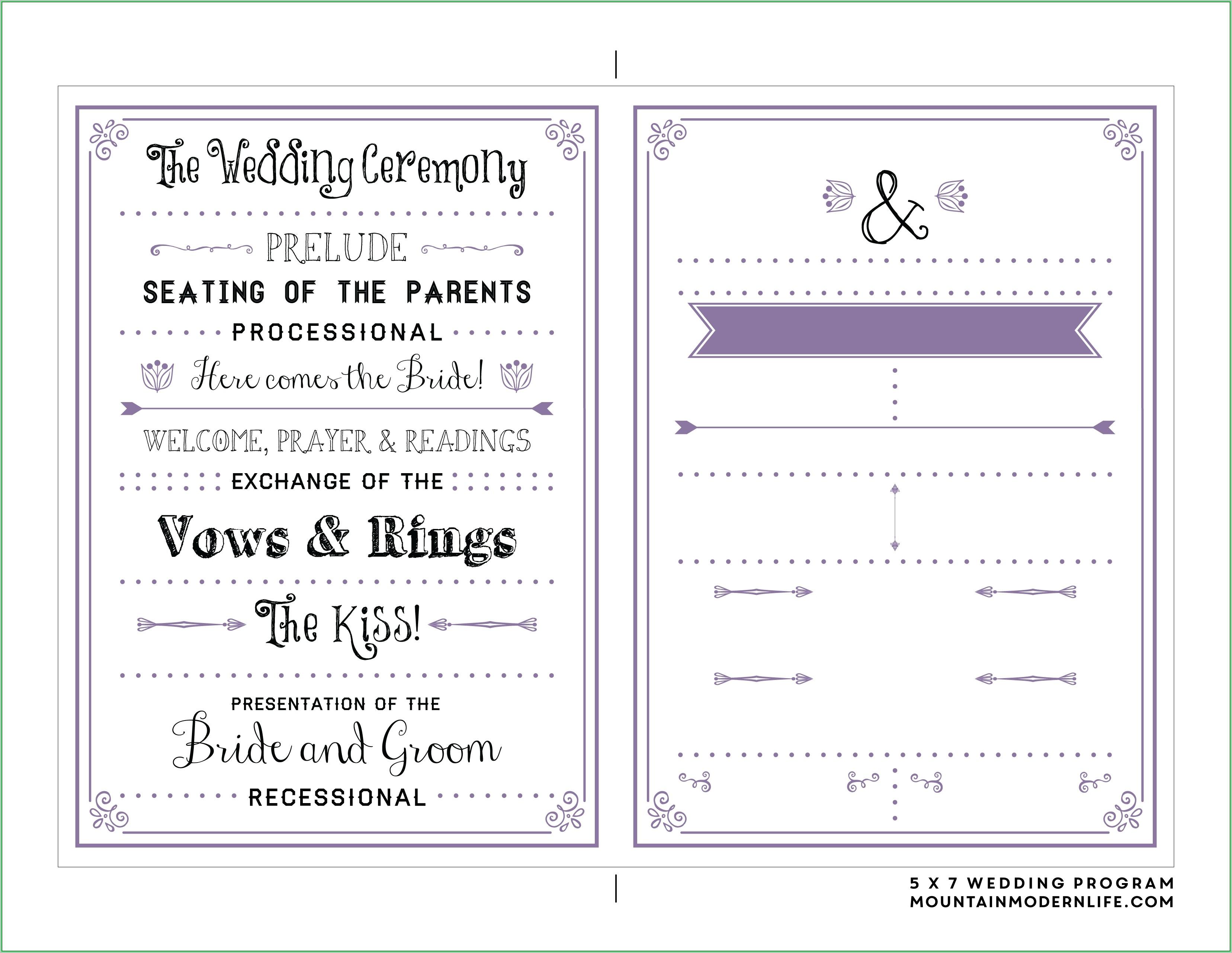 005 Free Printable Wedding Program Templates Template Ideas - Free Printable Wedding Program Samples