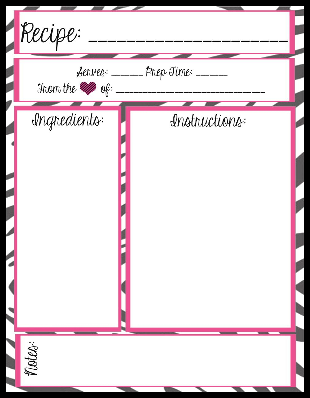005 Free Recipe Book Templates Printable Template Ideas ~ Ulyssesroom - Free Recipe Book Templates Printable