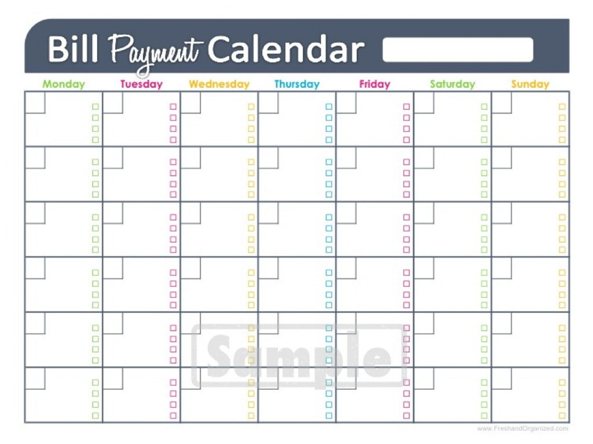 006 Monthly Bill Organizer Template Excel Paying Home Bills Free - Free Printable Weekly Bill Organizer