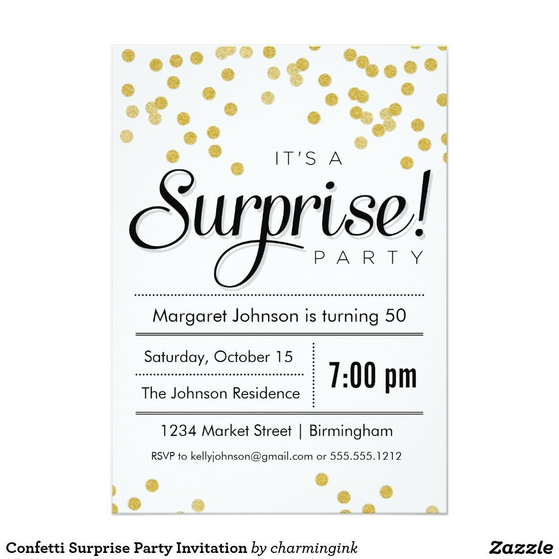 006 Surprise Birthday Party Invitations Templates Free Download - Printable Invitation Templates Free Download