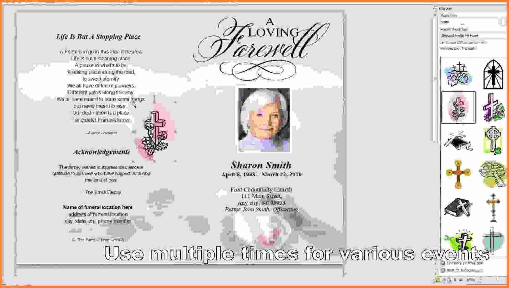 006 Template Ideas Free Printable Funeral Program Memorial Card For - Free Printable Funeral Programs