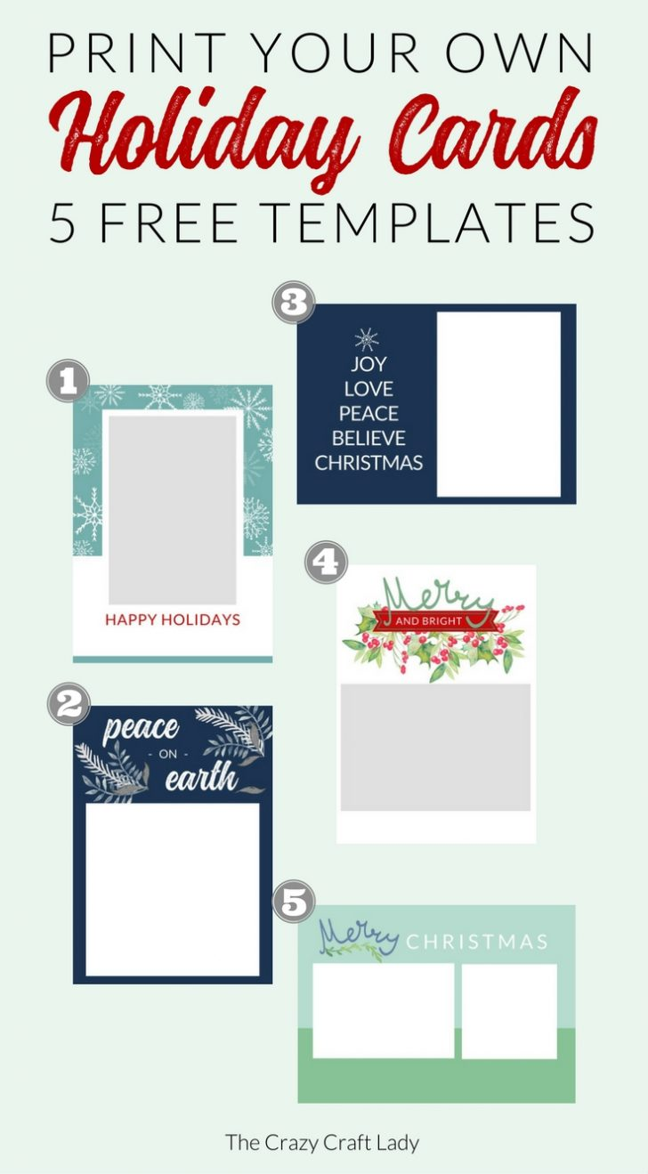 Free Printable Holiday Cards