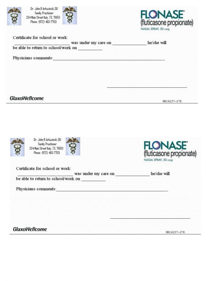 Free Printable Doctor Excuse Notes