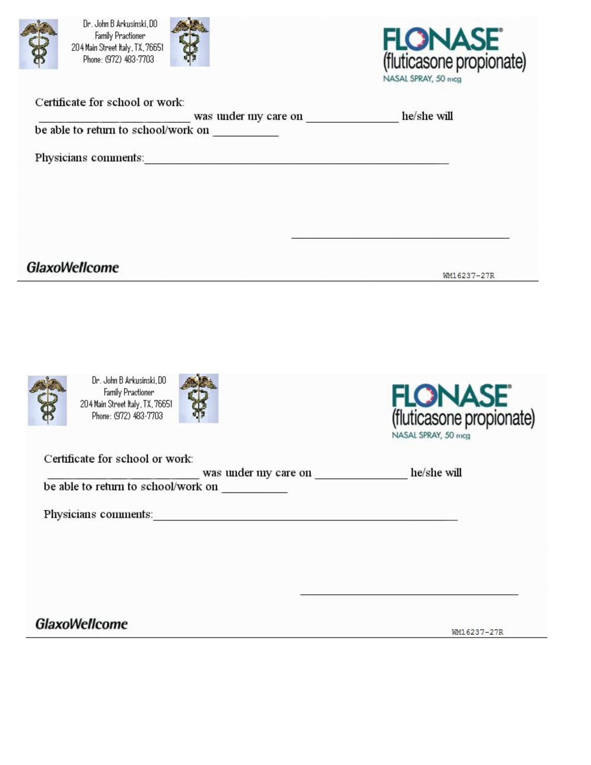 007 Free Printable Fake Doctors Note Template ~ Ulyssesroom - Free Printable Doctors Notes Templates