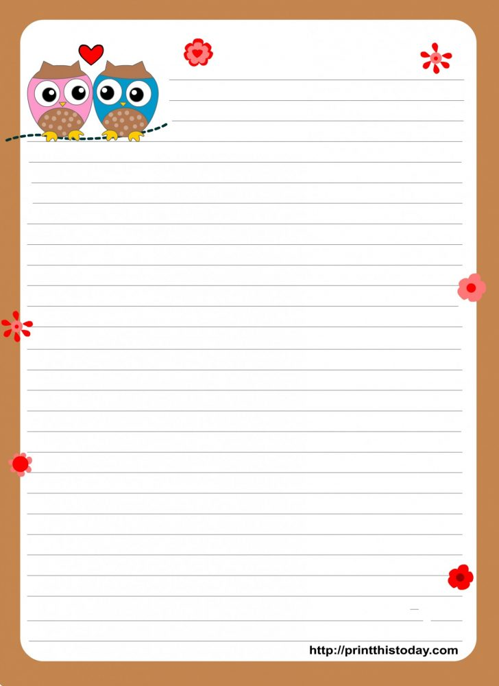 Free Printable Letter Writing Templates
