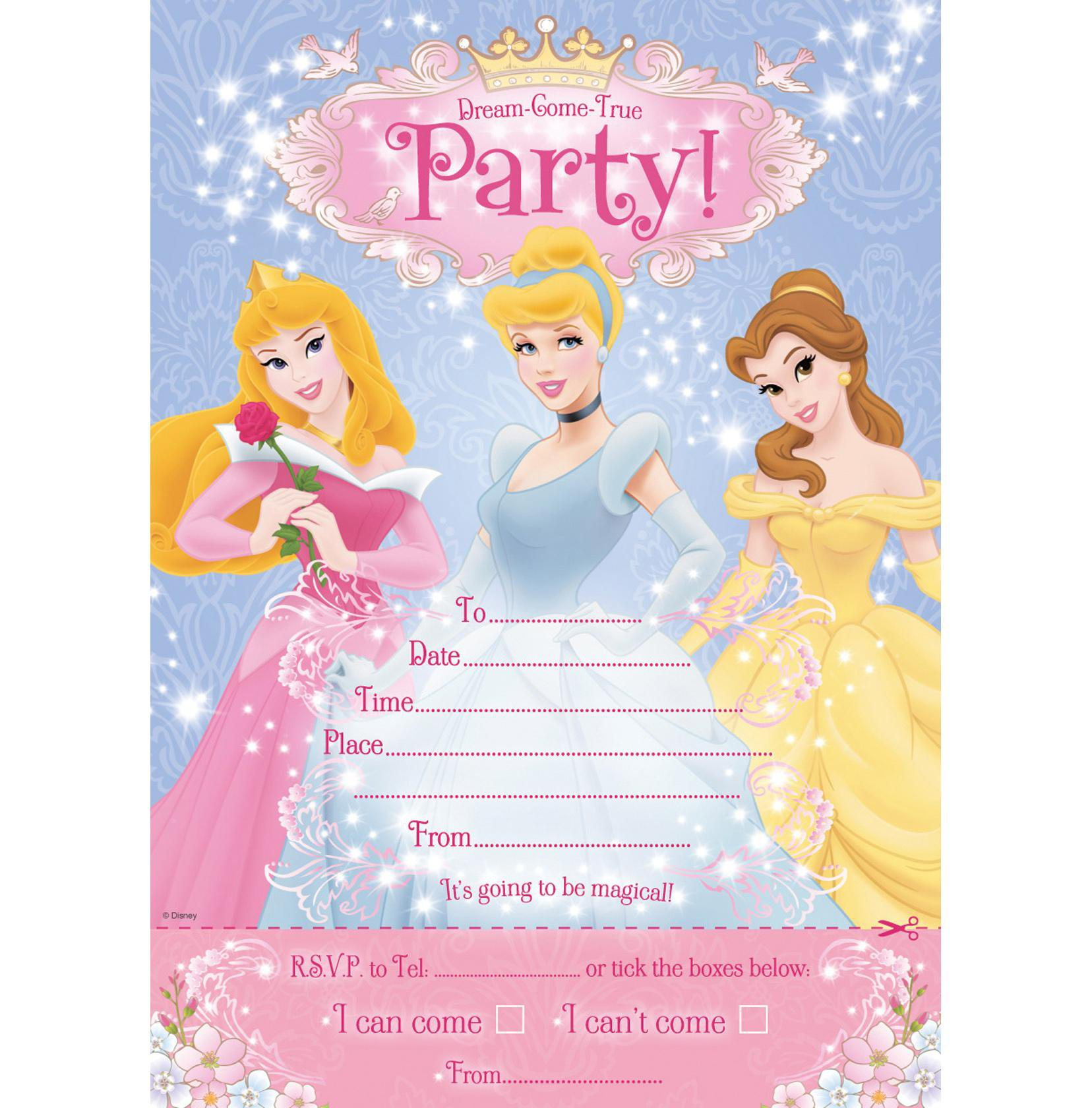 008 Disney Princess Invitation Template Birthday Invitations For - Disney Princess Birthday Invitations Free Printable