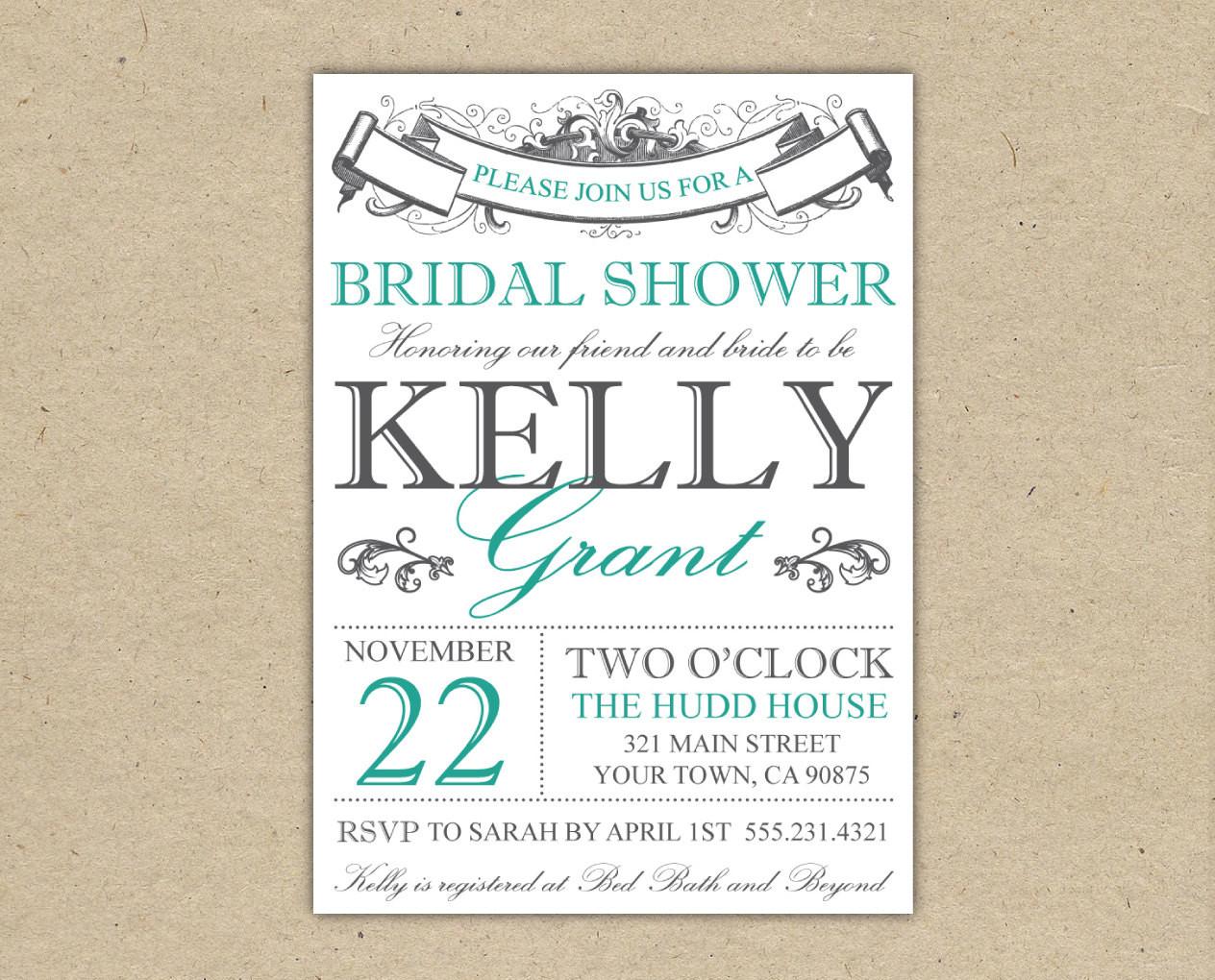 008 Free Printable Bridal Shower Invitations Templates Best - Free Printable Bridal Shower Invitations
