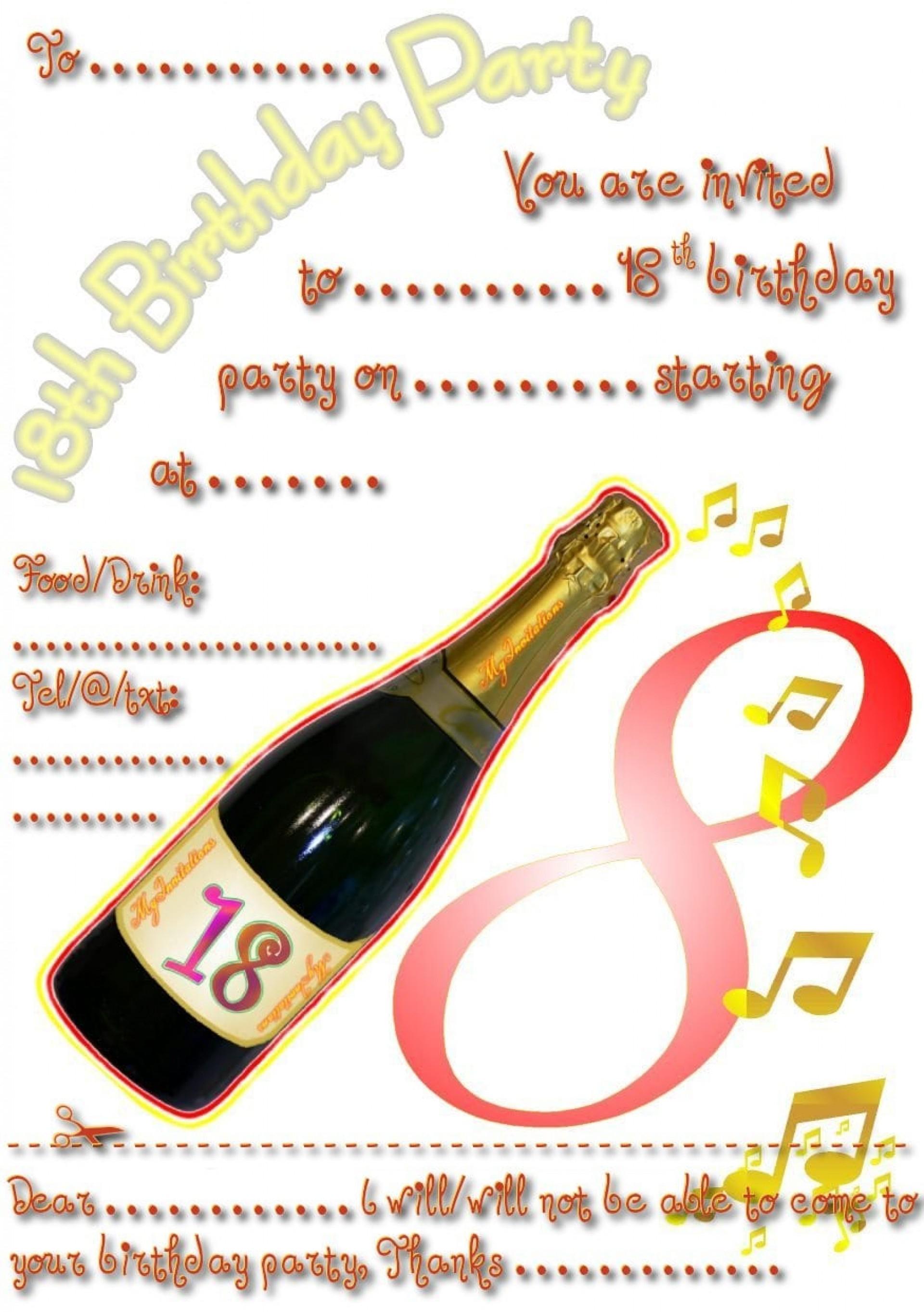 009 18Th Birthday Invitation Templates Free Printable Party Template - Free Printable 18Th Birthday Invitations