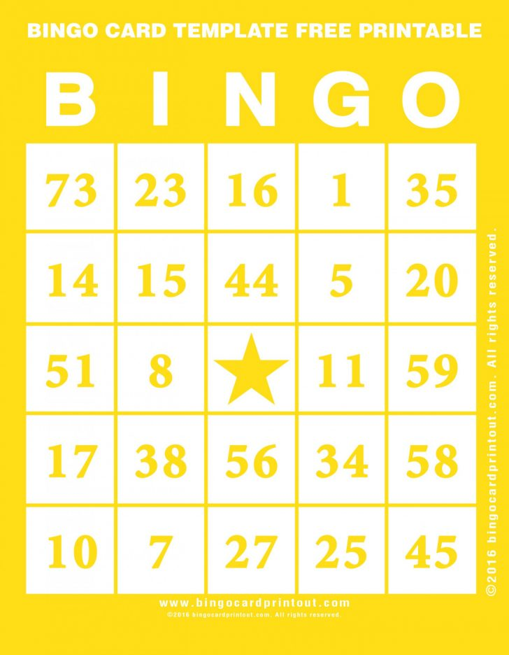 Free Printable Bingo Cards For Teachers