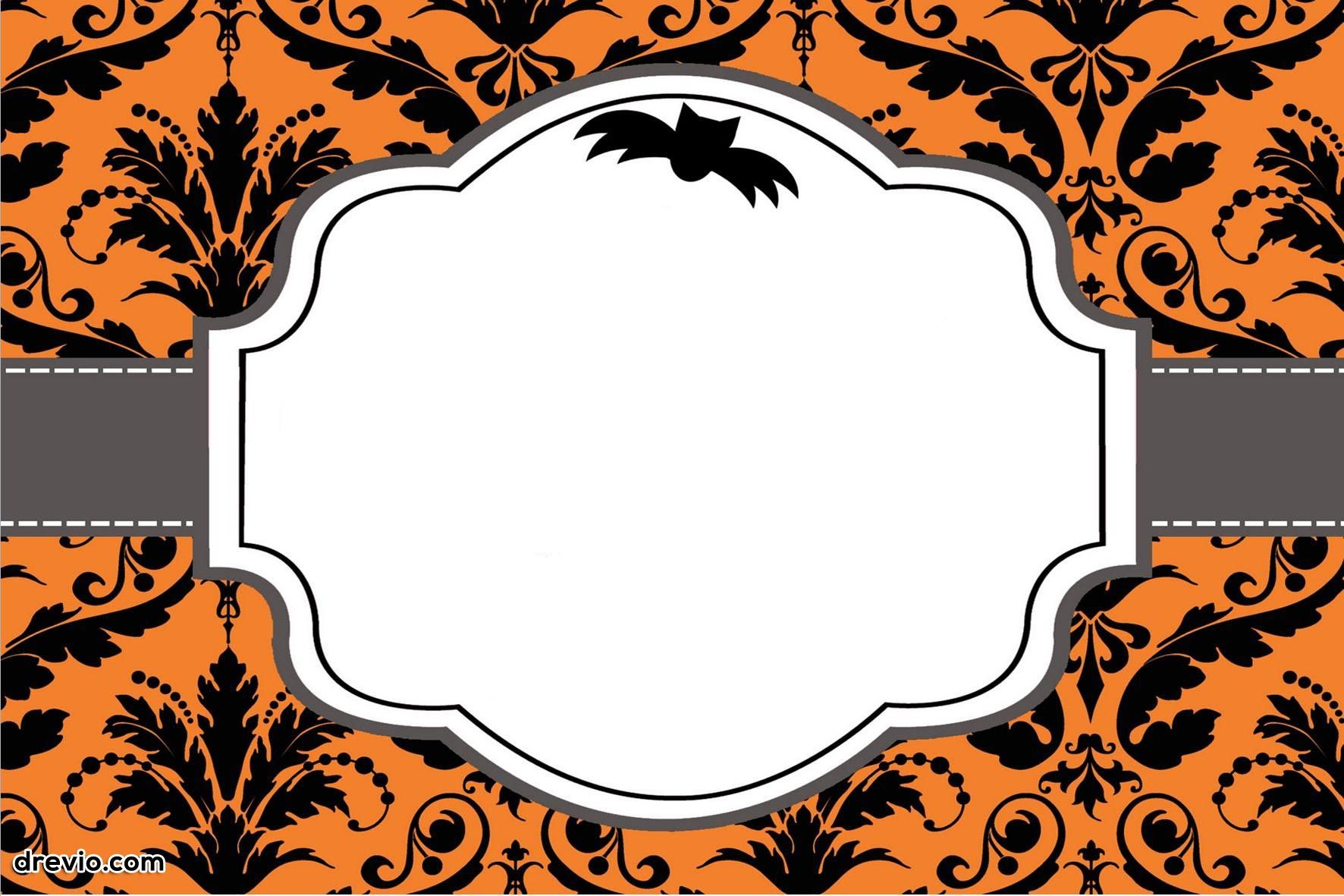 010 Free Halloween Invites Templates Template ~ Ulyssesroom - Free Printable Halloween Wedding Invitations