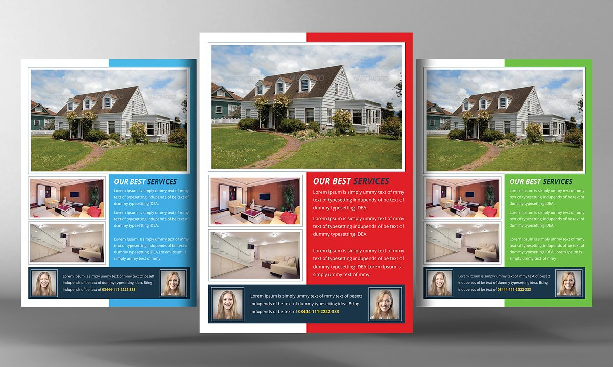 010 Real Estate Flyers Templates Mockups 04 - Free Printable Real Estate Flyer Templates
