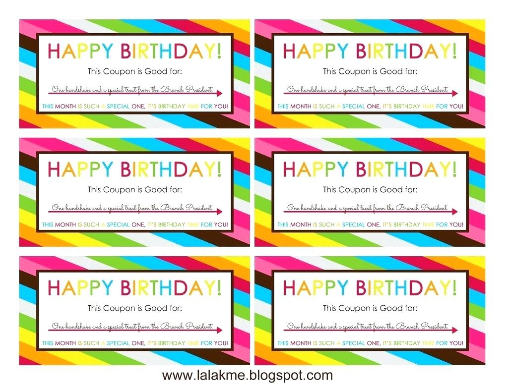 012 Happy Birthday Certificate Template Blank Coupon Within Coupons - Free Printable Blank Birthday Coupons