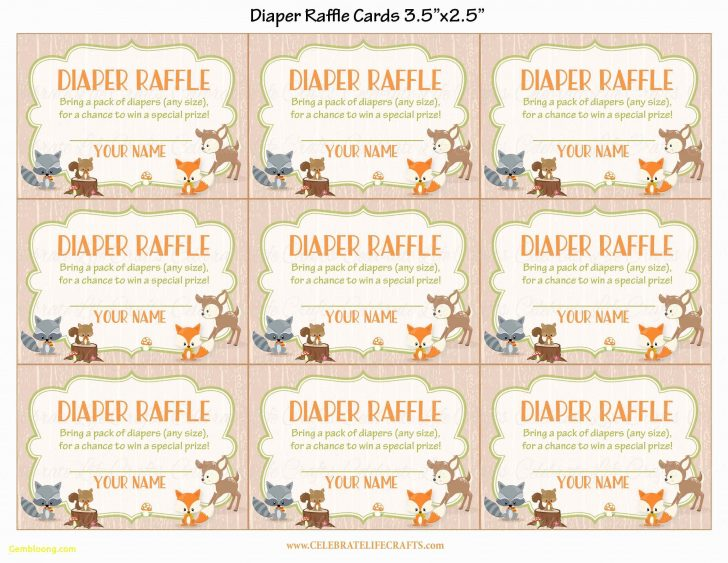 Free Printable Baby Shower Diaper Raffle Tickets