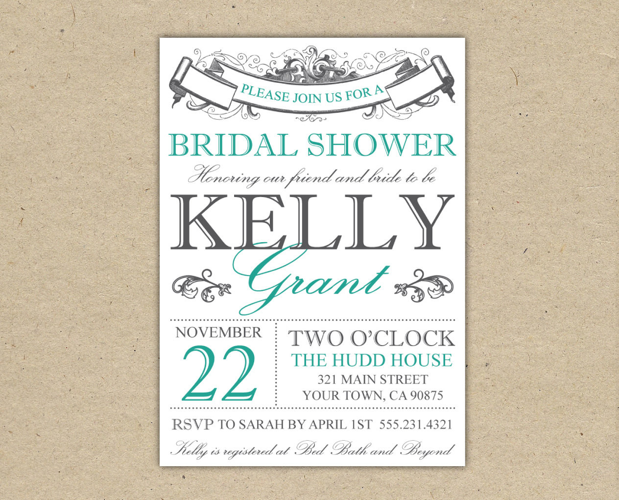 013 Free Bridal Shower Invitation Templates Printable Invitations - Free Printable Bridal Shower Invitations Templates