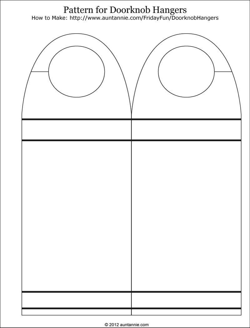 013 Template Ideas Free Printable Door Hanger ~ Ulyssesroom - Free Printable Door Knob Hanger Template