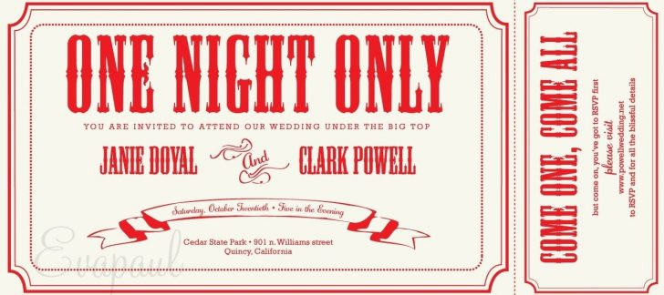 Free Printable Ticket Invitations