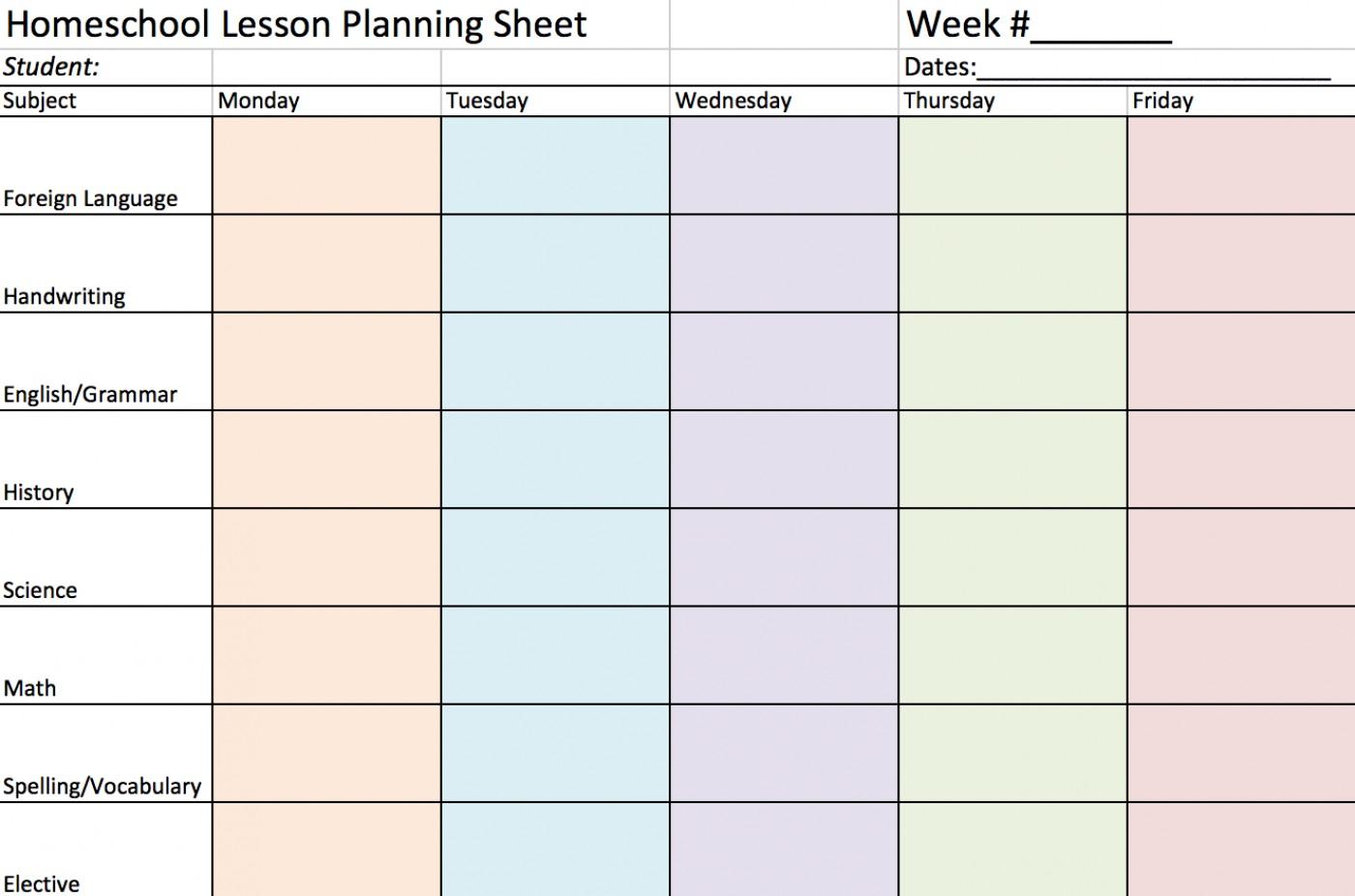 015 5Th Grade Homeschool Lessons Download Free Template For Middle - Homeschool Lesson Planner Free Printable