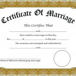 015 Template Ideas Fake Marriage Certificate Free Editable – Fake Marriage Certificate Printable Free