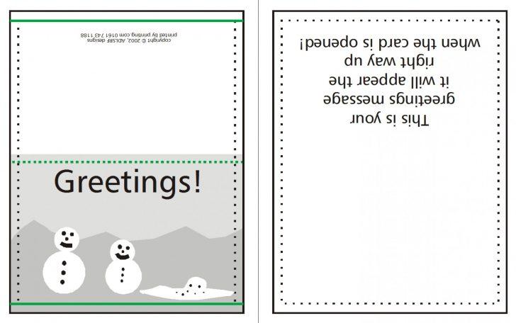 Free Printable Quarter Fold Christmas Cards