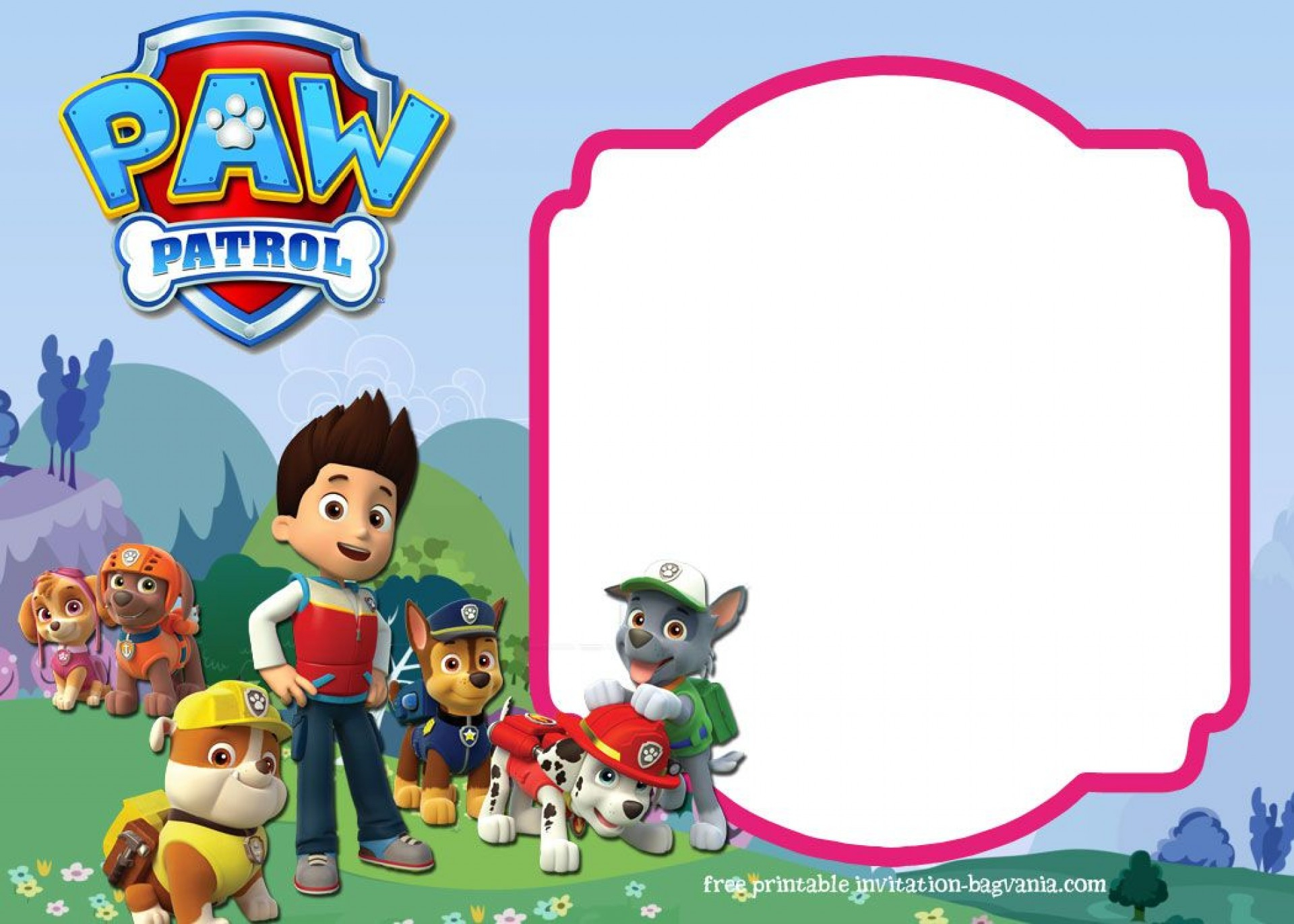 016 Free Paw Patrol Invitation Template Ideas Birthday Invite - Free Printable Paw Patrol Invitations
