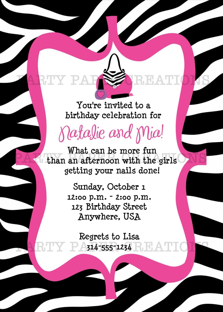 017 18Th Birthday Invitation Templates Template Ideas Printable Th - Free Printable Zebra Print Birthday Invitations