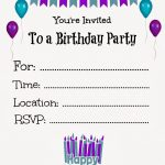 017 Free Printable Birthday Invitation Templates Template Ideas   Free Printable Invitation Maker
