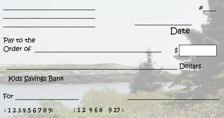 Free Printable Blank Checks