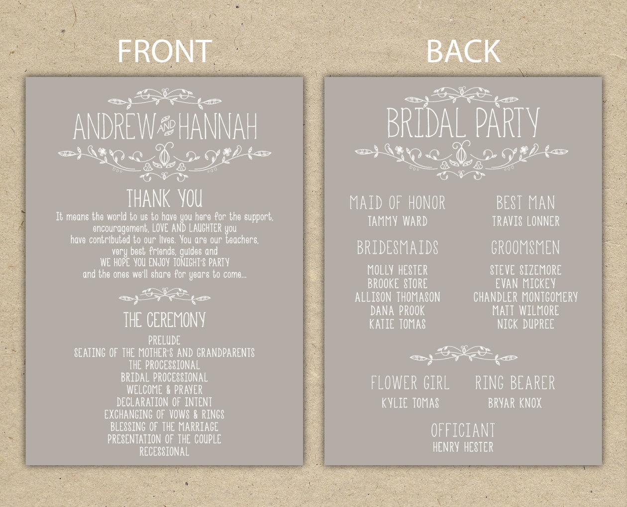 020 Template Ideas Wedding Program Templates Free Printable Programs - Free Printable Wedding Program Templates Word