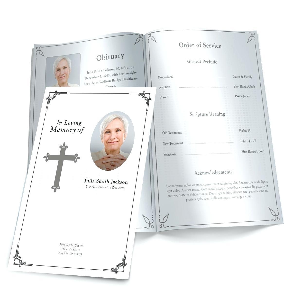 021 Free Printable Funeral Program Template Ideas Programs Templates - Free Printable Funeral Program Template