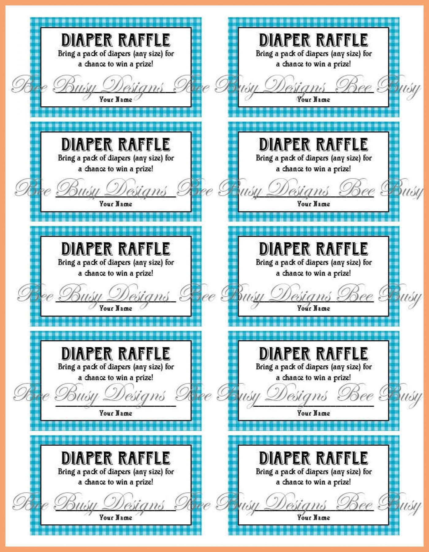 023 Free Printable Baby Shower Raffles Template Il Fullxfull 584S - Free Printable Baby Shower Diaper Raffle Tickets
