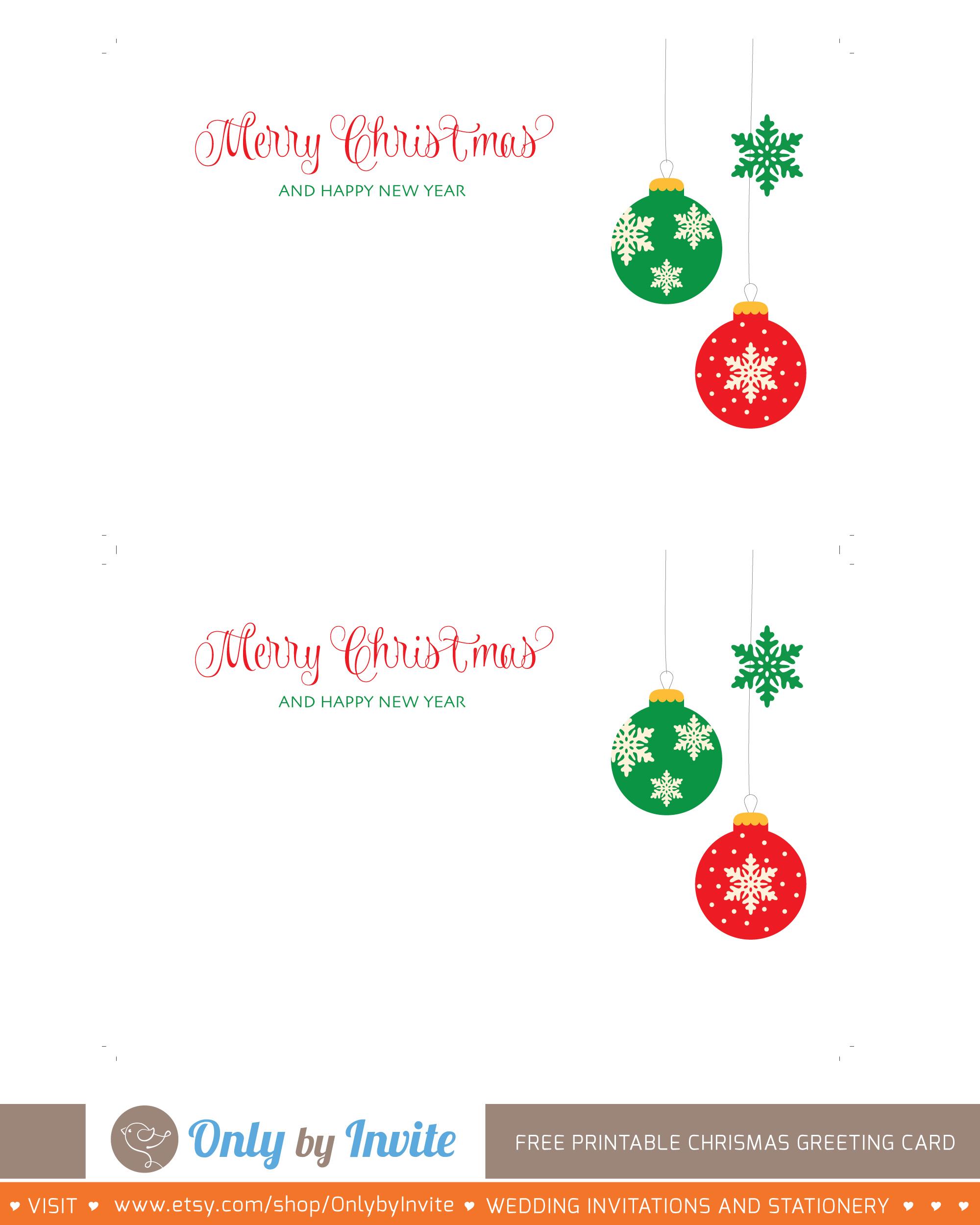 024 Free Printable Cards Template Ideas ~ Ulyssesroom - Free Printable Xmas Cards