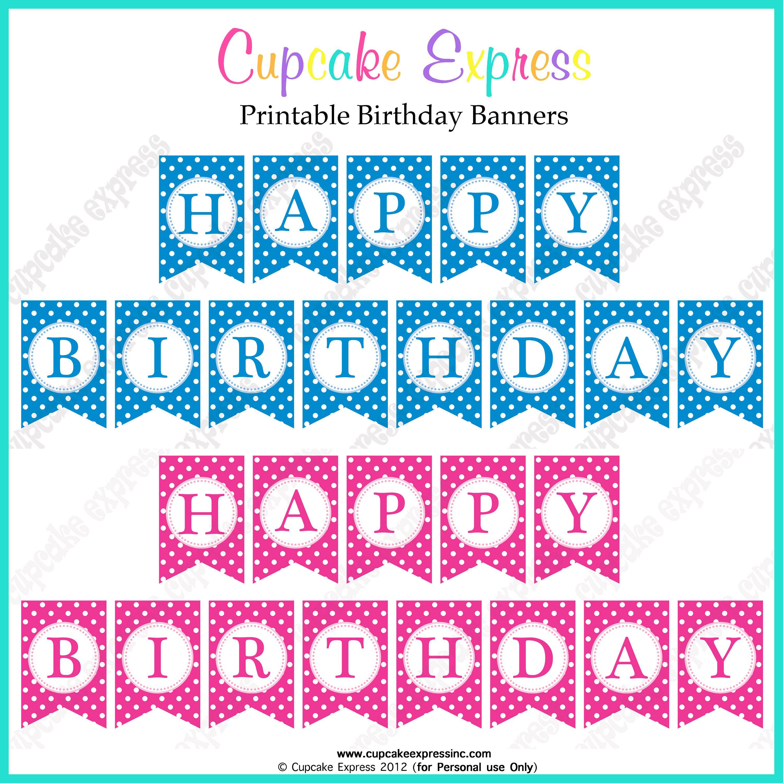 024 Happy Birthday Banner Template ~ Ulyssesroom - Free Printable Happy Birthday Banner Templates