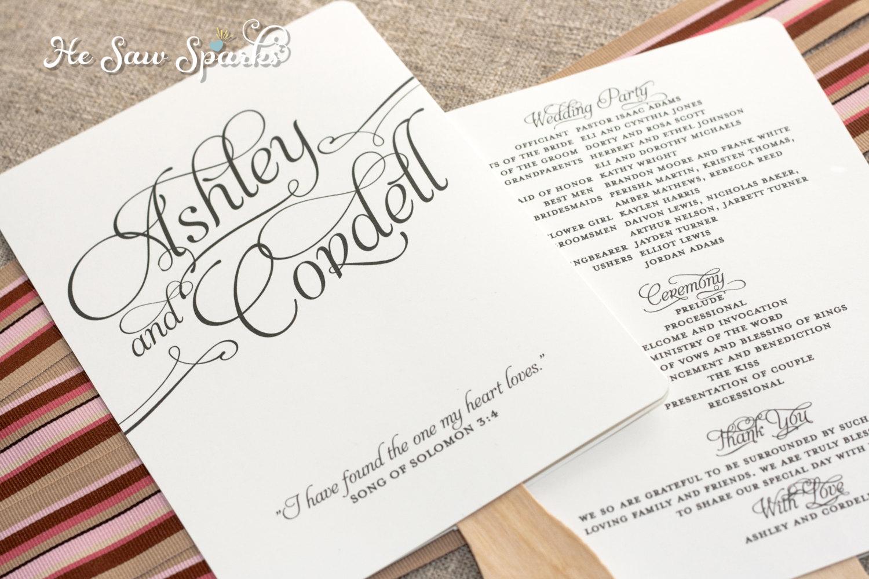 024 Nuptial Mass Programe Free Weddinges Download Printable Ceremony - Free Printable Wedding Fan Templates