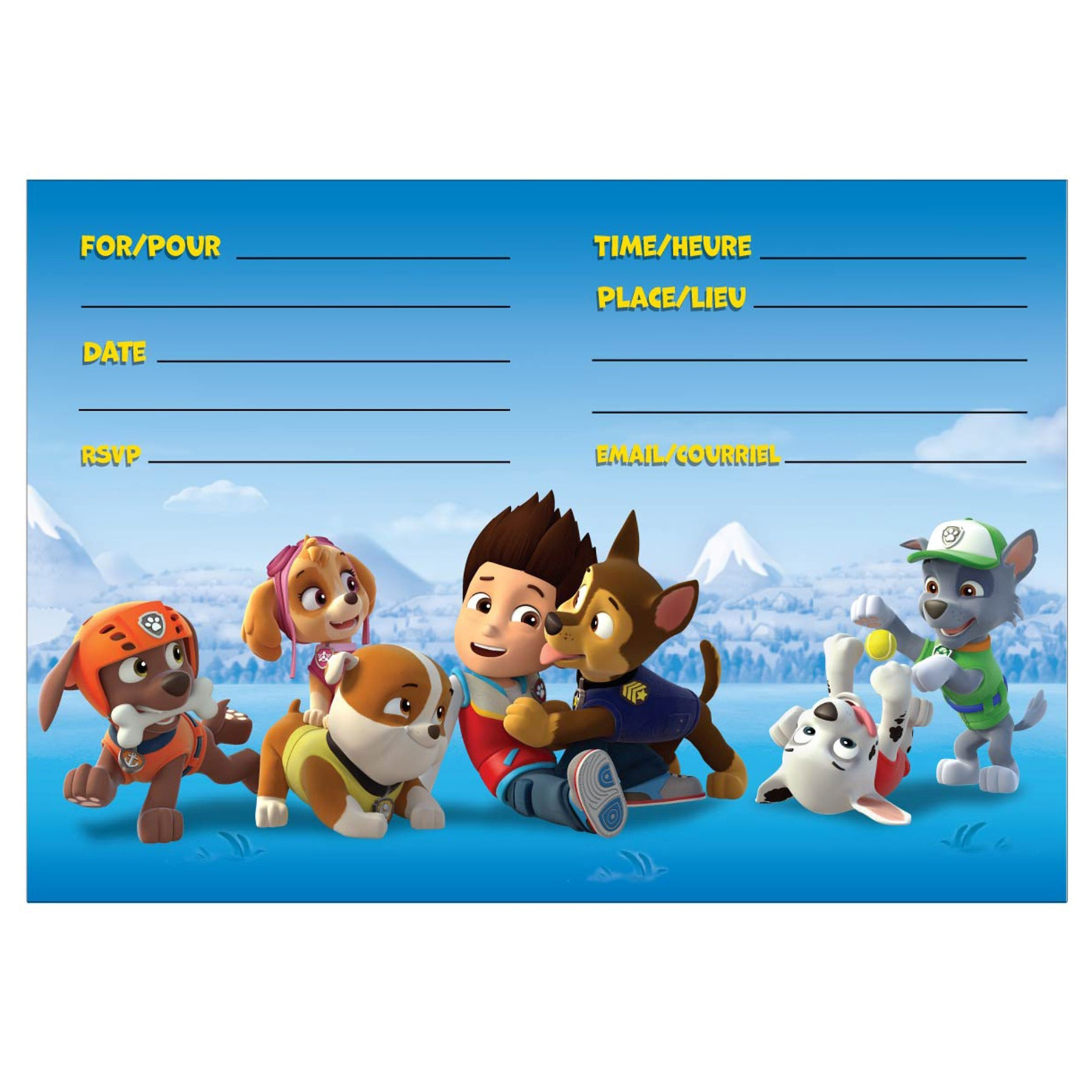 024 Template Ideas Paw Patrol Invitation Templates Remarkable - Free Printable Paw Patrol Invitations