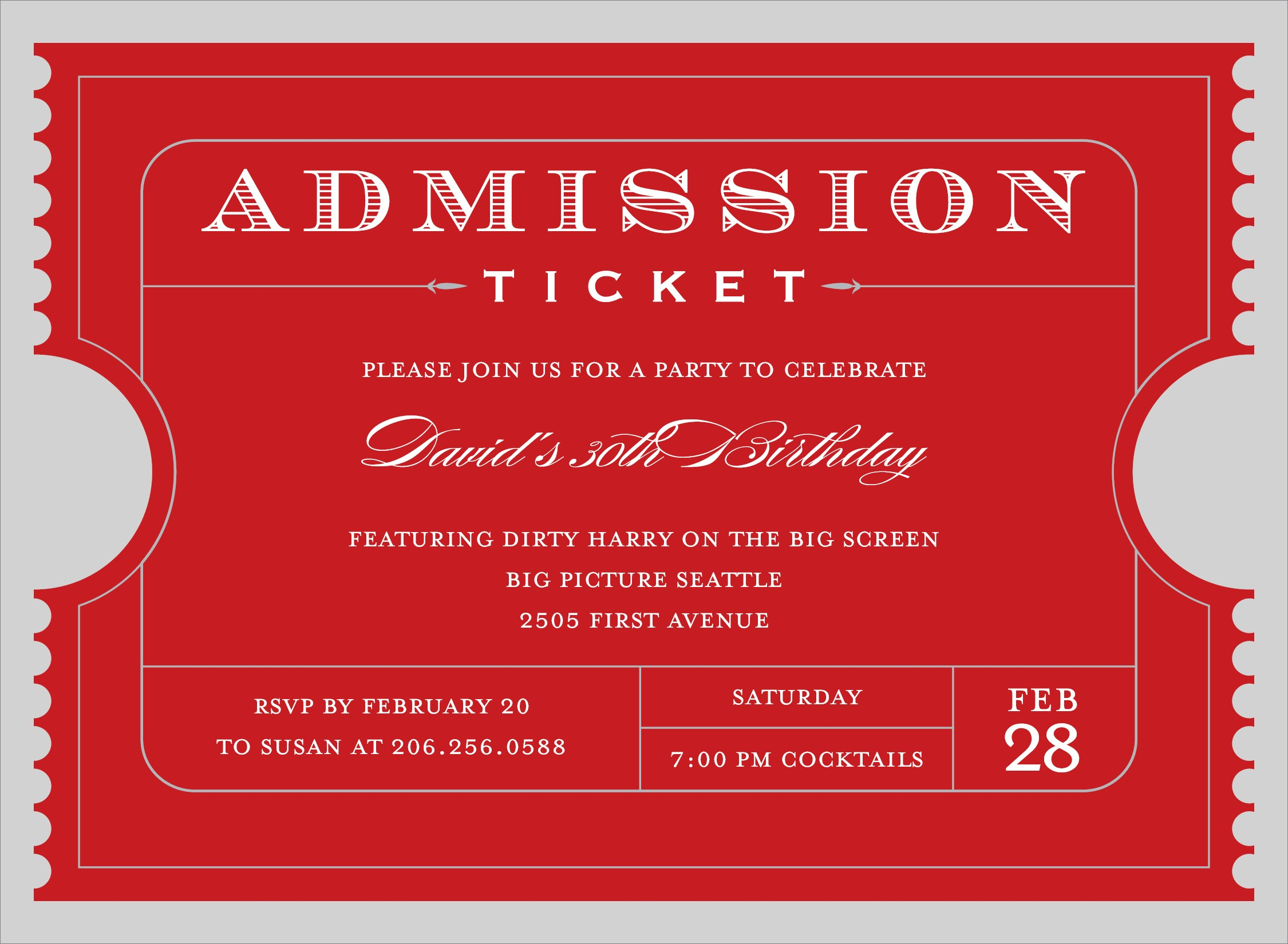 025 Free Printable Event Tickets Template Admission Ticket Download - Free Printable Admission Ticket Template