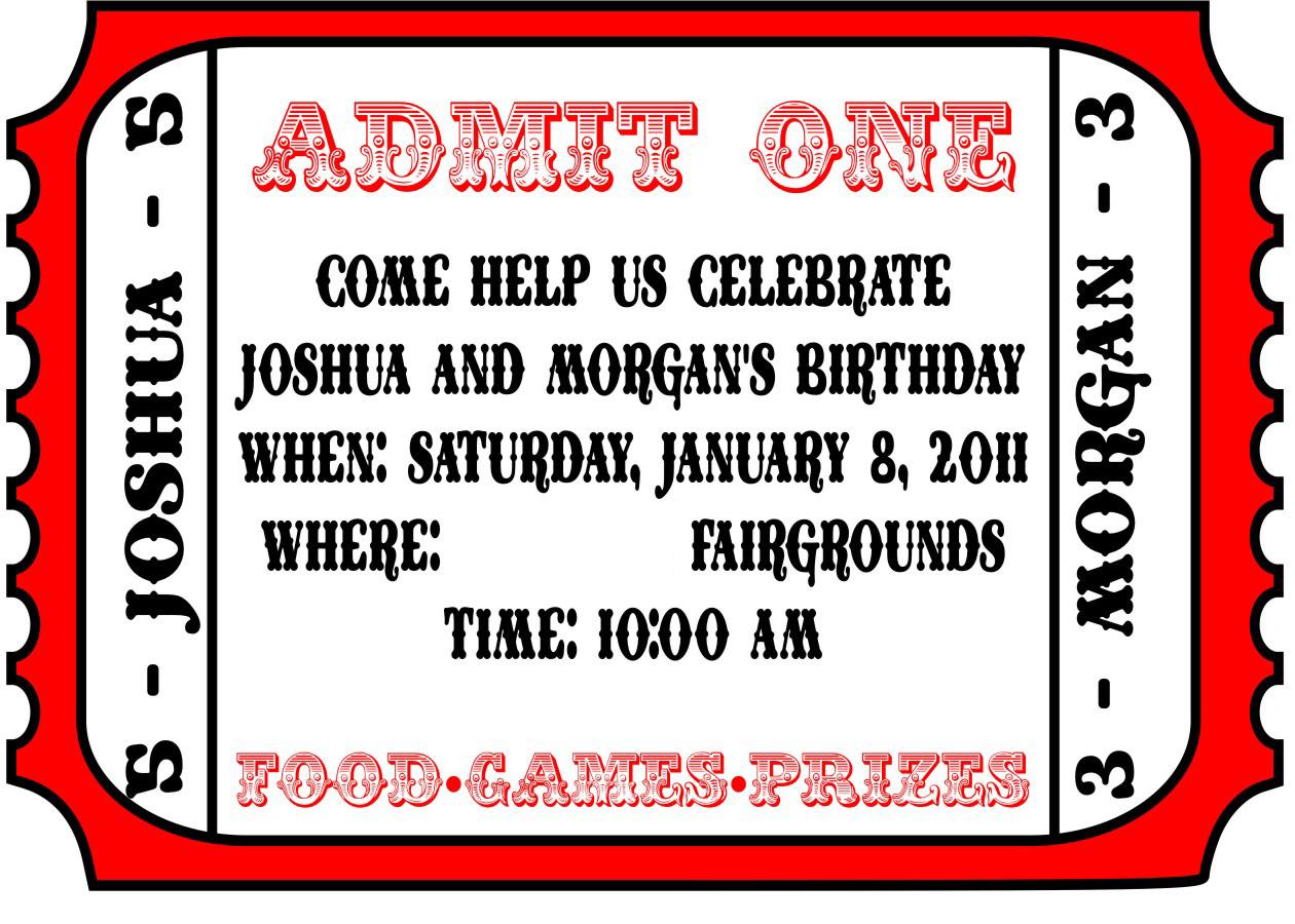 025 Free Printable Movie Ticket Invitations Photo Template Admit One - Free Printable Ticket Invitations