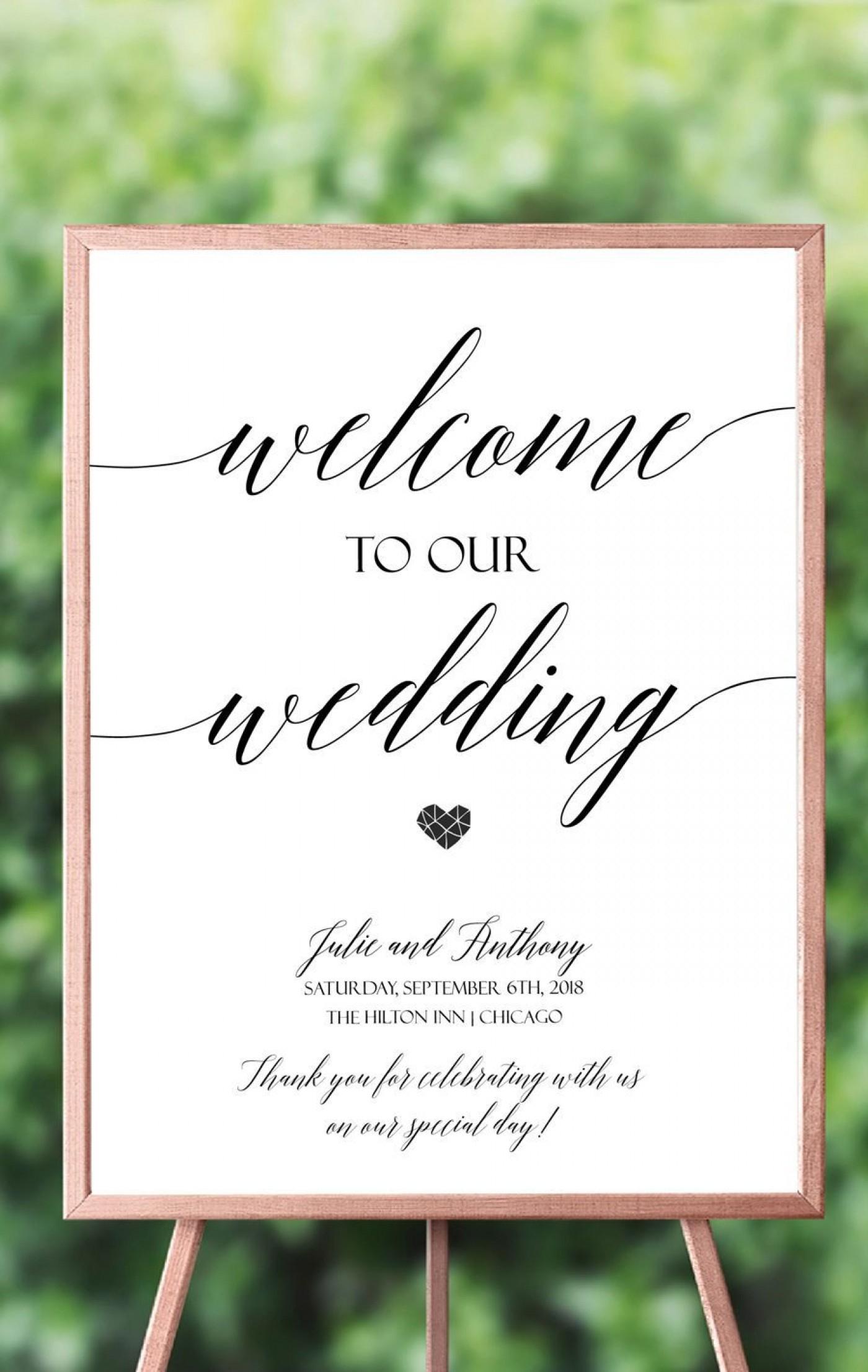 028 Wedding Welcome Sign Template ~ Ulyssesroom - Free Printable Welcome Sign Template