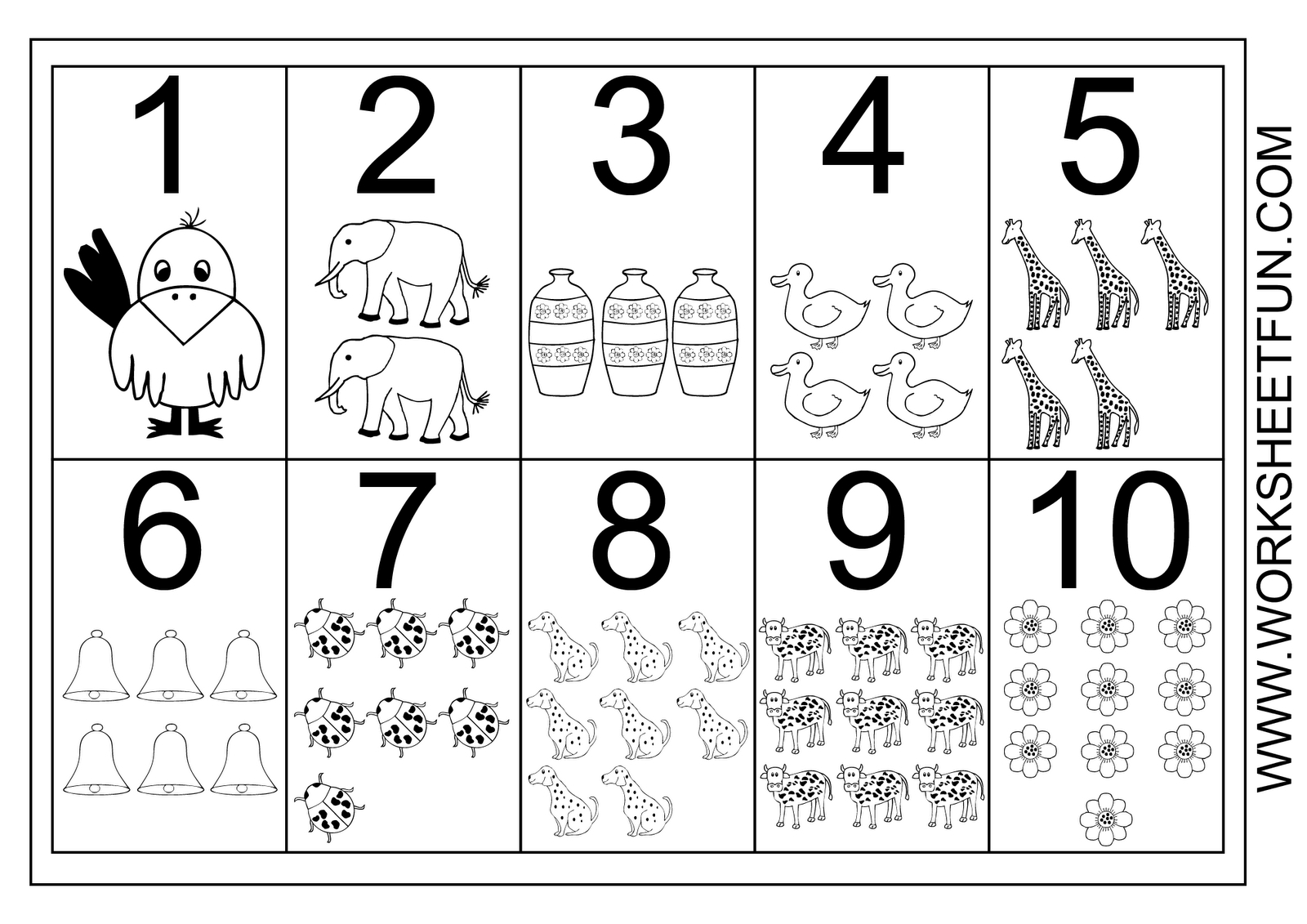 1-10 Worksheets | Numbers 1 10 Printable Worksheet | Teacher - Free Printable Numbers 1 10