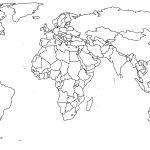 1  Missing Antartica But Crisp  Unlabeled World Continents   Free Printable Blank World Map Download