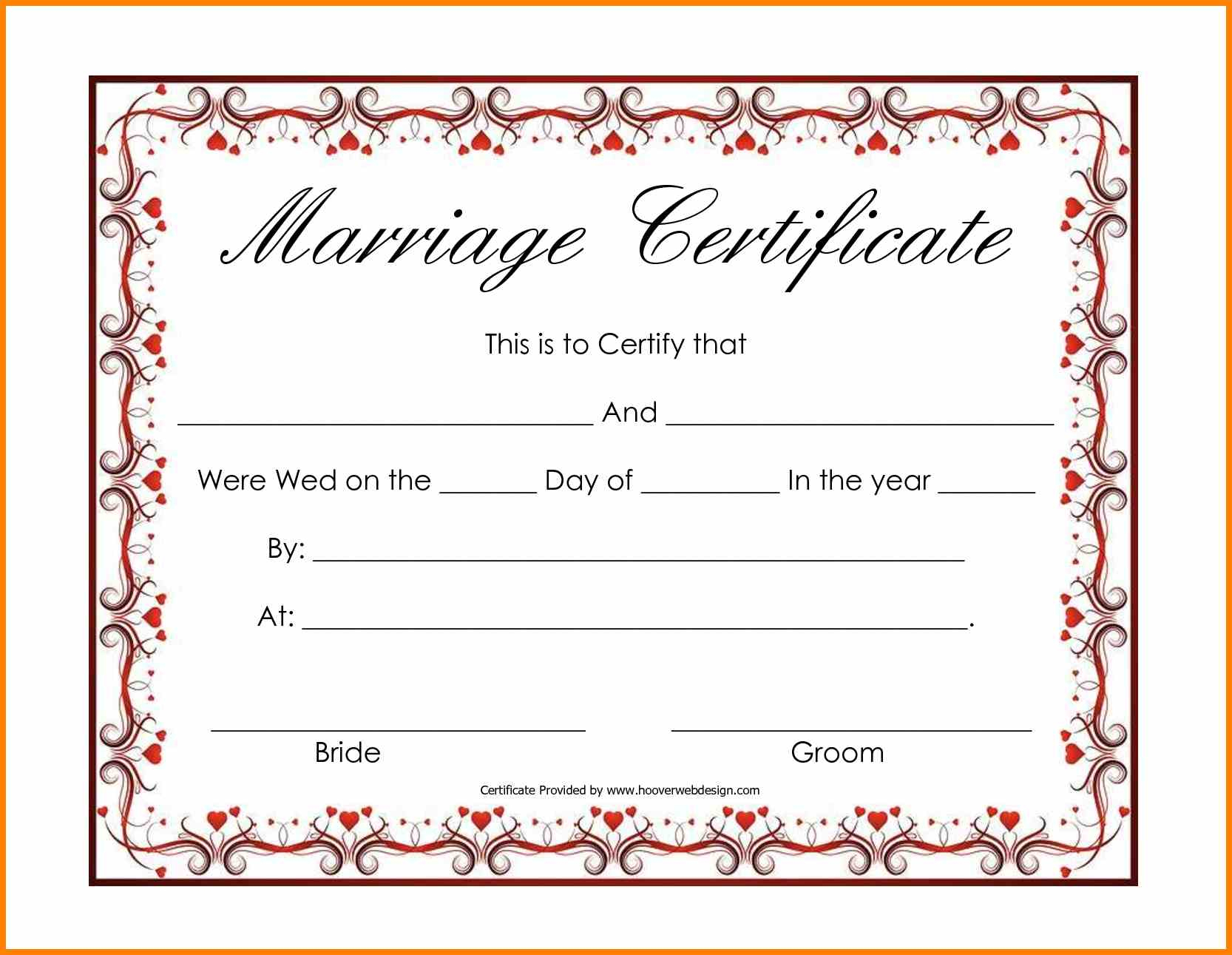 10+ Fake Marriage Certificate Printable | Lbl Home Defense Products - Fake Marriage Certificate Printable Free